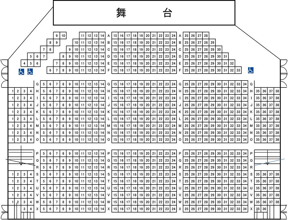 ホール座席表